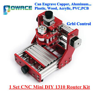 Cnc Mini Diy 1310 Router Kit Wood Metal Cutting Engraving Machine Grbl Control