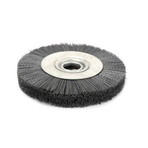 8 Inch 240 Grit Abrasive Wire Nylon Wheel Polish Bench Grinder Wood Furniture