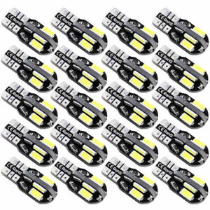 20x T10 Super Bright Led Car Canbus Error Free Light Lamp Bulb 5730 168 194 W5w