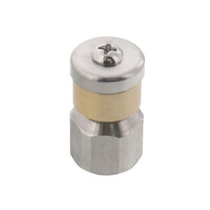 Erie Tools Rotating 1 4 Sewer Jetter Nozzle For Drain Cleaning 7 5 Orifice