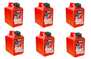 6 Midwest 1 Gallon Gas Cans