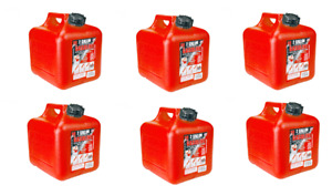 6 Midwest 2 Gallon Gas Cans Holds 2 Gallons 8 Ozs