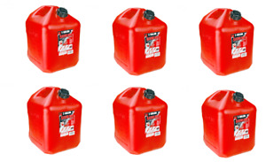 6 Midwest 5 Gallon Gas Cans