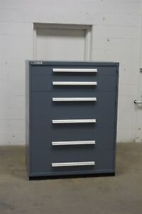 Used Vidmar 6 Drawer Cabinet Industrial Tool Parts Storage 45 Wide 1276