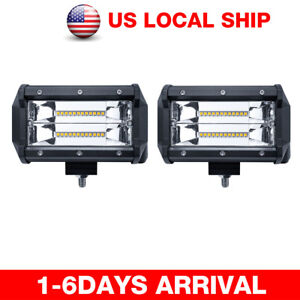5 672w Cube Led Pod Work Light Bar Flood Beam Off Road Driving Fog Lights Lamps