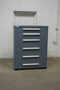 Used Vidmar 6 Drawer Cabinet Industrial Tool Storage 45 Wide 1281 Equipto