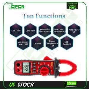 Auto Handheld Digital Clamp Meter Capacitor Test Capacimeter Electronic Ua2008b