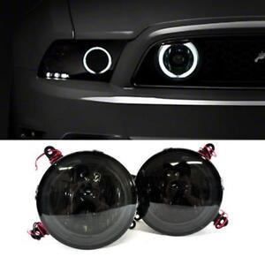 For 2005 2009 Ford Mustang Gt Hood Grille Smoke Halo Fog Lights Lamp Pair switch