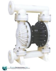 Chemical Resistant 3 Air Diaphragm Santoprene Pump