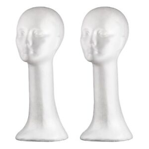 Dini Wigs Styrofoam Display Mannequin Head 19 Inch For Wigs Hair Free Shipping