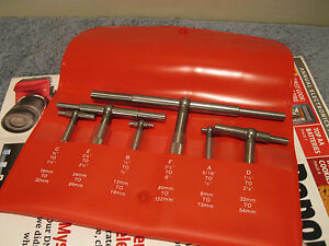 Starrett No s579h 6 Pc Telescoping Gage Set Self centering read