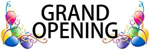 Grand Opening Balloons Outdoor Banner 48 X 144 Long Lasting