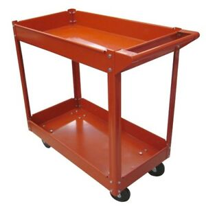 Metal Steel Rolling Tray Utility Service Push Cart