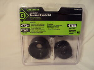 New Greenlee 7211bb 1 1 2 Knockout Punch Set Slug Buster