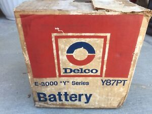 Delco New Old Stock nos Auto Battery Y87pt