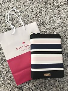 Nwt 2018kate Spade Zip Around Personal Organizer Planner Laurel Way Striped