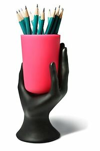 Hand Cup Pen Pencil Holder By Lilgift Pink Desk Supplies Holders Dispensers
