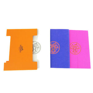 Authentic Hermes Logos 3 Set Post It Sticky Notes Memo Paper Multi color 08b1536
