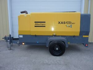 2012 Atlas Copco Xas 850 Diesel Air Compressor 850 Cfm 100 Psi 890 Hours