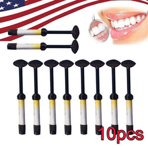 Us 10pc lot Dental Temporary Light Cure Filling Material Composite Resin Syringe