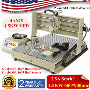 1500w Usb Cnc 4axis Router Milling Drilling Machine Engraver 6090 Ball Screw Usa