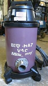 Minuteman Bio haz Vacuum 82907 With Upla Filter Head Assembly 829118 Remove Mold