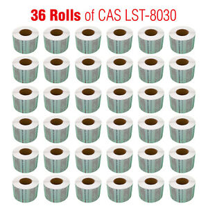 Cas Lst 8030 Printing Scale Label 58 X 50 Mm Non upc safe Handling 36 Rolls