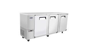 Atosa Mbb90 90 Back Bar Cooler With Stainless Steel Exterior Interior