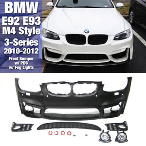 M4 Style Front Bumper With Pdc Fog Lights For Bmw 2010 2012 3series E92 E93