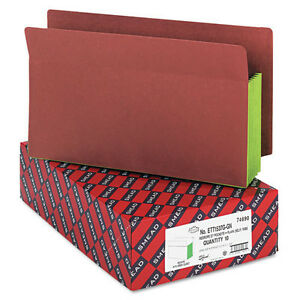 Lot Of 70 Smead 74690 5 1 4 Legal End Tab Expansion File Green Redrope