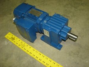 Sew eurodrive R27drs71s4be05hf 1 2 Hp 1700 60 Rpm 3 Ph 277 480v Gear Motor