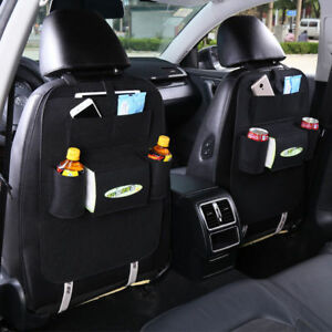 New Auto Car Seat Multi Pocket Hang Storage Bag Organizer Holder Accessory Black