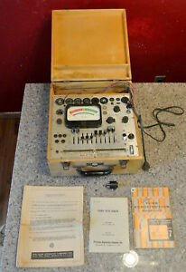 Vintage Precision Apparatus Series 612 Tube And Battery Tester With Manuals
