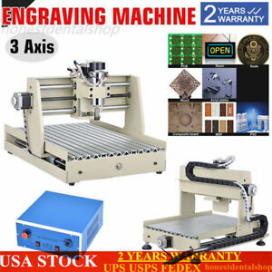 3 Axis 3040 Cnc Router Engraver 3d Engraving Drilling Milling Machine 400w New