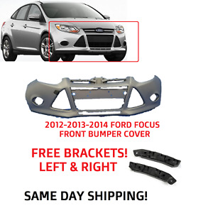 2012 2013 2014 Ford Focus Front Bumper Primed Ready For Paint With Free Bracket