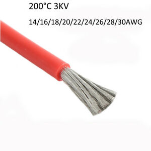 Ul3239 Silicone Wire Flexible Cable 14 16 18 20 22 24 26 28 30awg 200 c 3000v