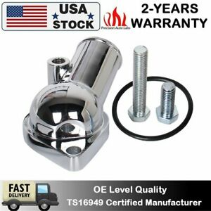 Water Neck Thermostat Housing 15 350 Small Big Block For Sbc Bbc Chevy Chrome