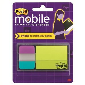 Post it Mobile Attach And Go Note And Tabs Dispenser 8 Packs