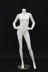 Female Matte White Headless Mannequin High End Styled Pose