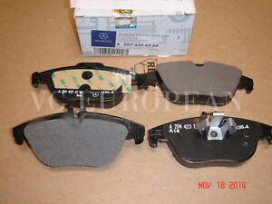Mercedes Benz C Class Genuine Rear Brake Pad Set Pads C250 C300 C350 New