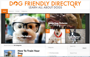 Pet Dog Blog Website Dogfriendlydirectory com Da27 127 Links Domain For Sale