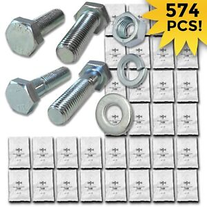 Grade 10 9 Metric Hex Cap Screws Hex Bolts Nut Washer Assortment Kit 574 Pcs