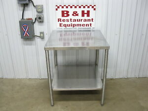 30 Stainless Steel Heavy Duty Work Table W Under Shelf 2 6