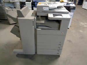 Canon Imagerunner Advance C5030 Color Copier W C1 Finisher Meter 148k ct