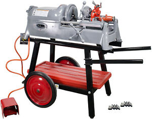 Ridgid 535 V1 Pipe Threader With Stand Die Head Extra Dies reconditioned
