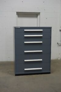 Used Vidmar 6 Drawer Cabinet Industrial Tool Part Storage 45 Wide 1299
