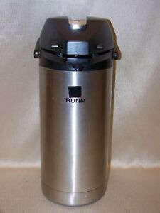 Bunn 3 8 L 16 Cup Airpot Coffee hot Water Dispenser Only With Pump Lever Lid