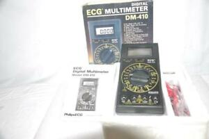 Ecg Dm410 Digital Multimeter 4 1 2 Digit Lcd 0 5 h With Leads Manual