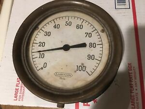 Vintage lonergan Gauge 0 100 7 1 4 Face steampunk