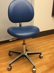 Dental Mobile Chair Doctor s Stool Pu Leather Dentist Seat Height Adjustment